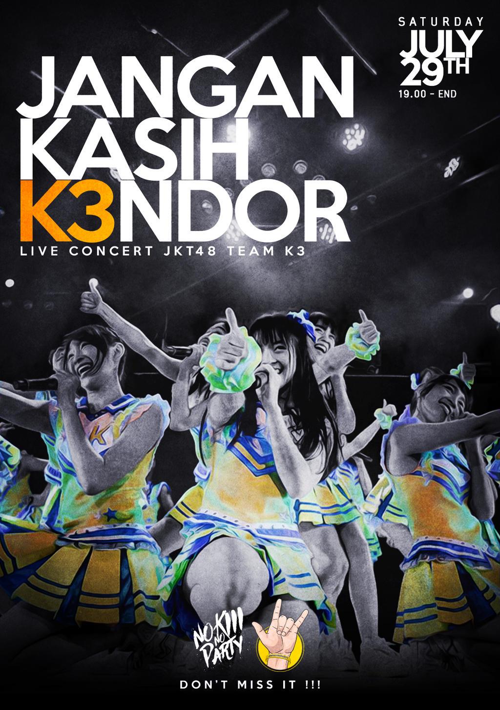 Design poster k3 -  Teaser Poster Team K3 Concert 6 By Garda1408