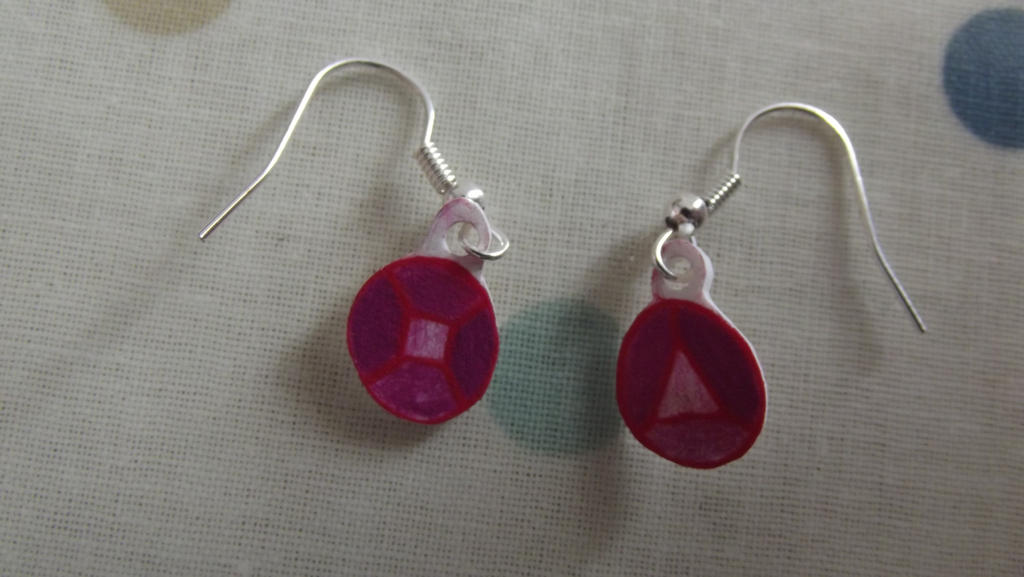 steven universe earrings steven universe garnet earrings by lucidillusionashling on 6344