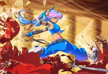 Battle against the Red Shinobi by DonoMX