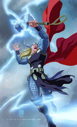 FREE Commish 03: Mighty Thor by DonoMX
