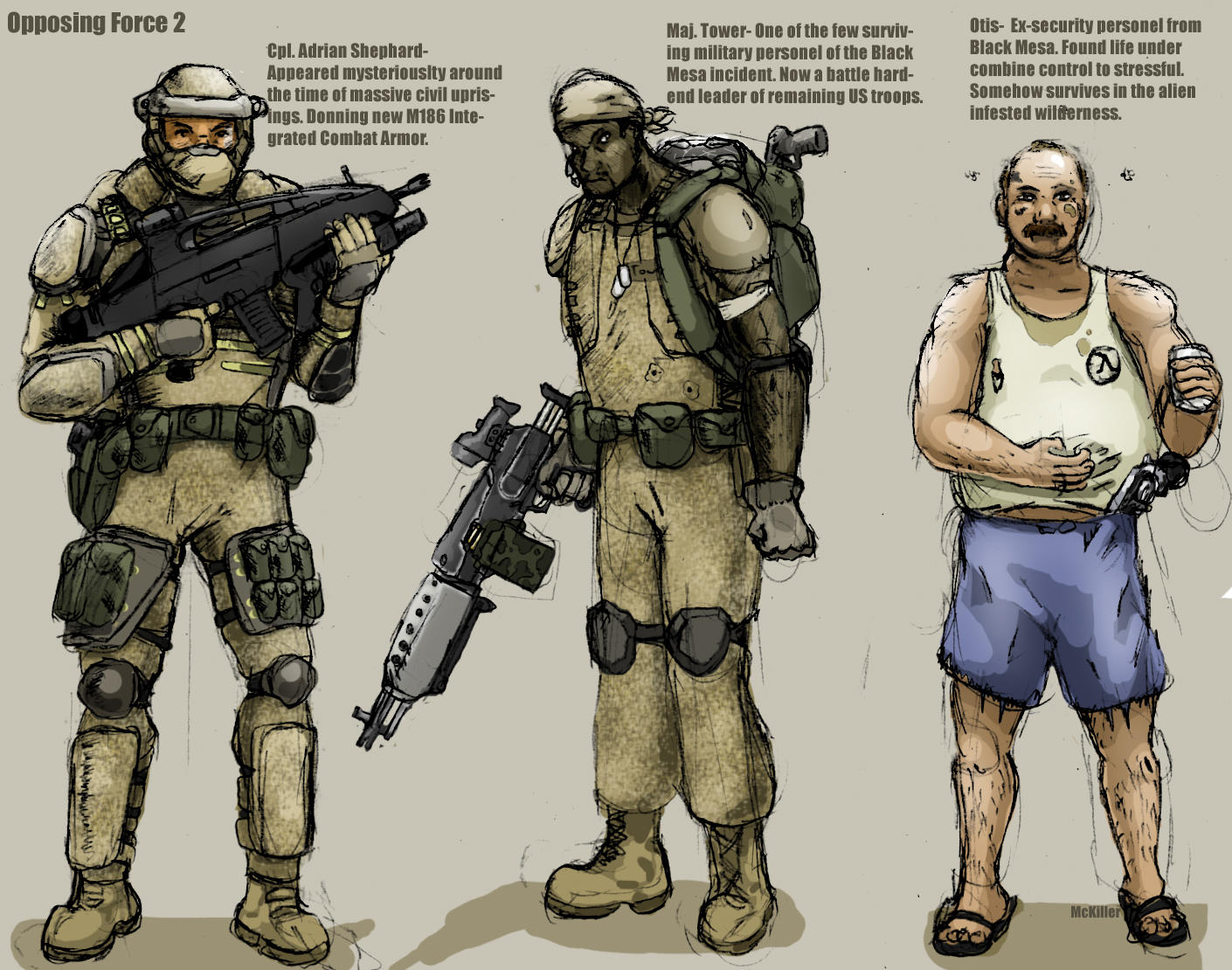 Force Character Design From Life Drawing Ebook : Opfor character concepts by mckiller on deviantart