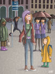 Stuck in a wedgie on a rainy day (wedgie series)