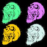 Pastel-skulls