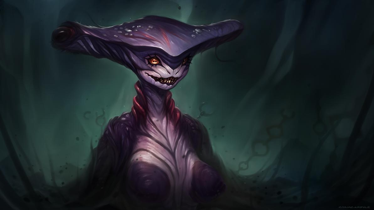 Hammerhead Shark demon lady by CyanCapsule