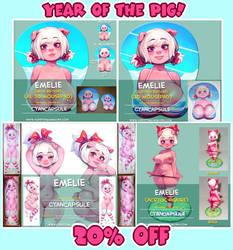 20% Year of the pig FurryDakimakura sale! by CyanCapsule