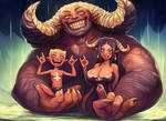 Devil Family Bath