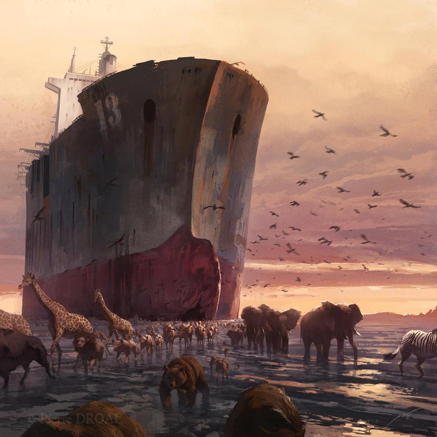 Noah s ark reloaded by pierredroal on deviantart