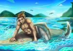Merman painting