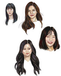 Faces of Kpop Girls Idol quick Study