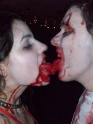 Bloody kiss by YamiWesker