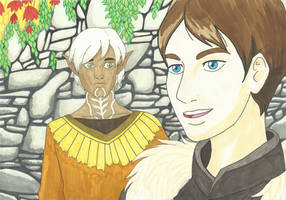 Dragon Age 2 - Fenris and Hawke by Book-Nose
