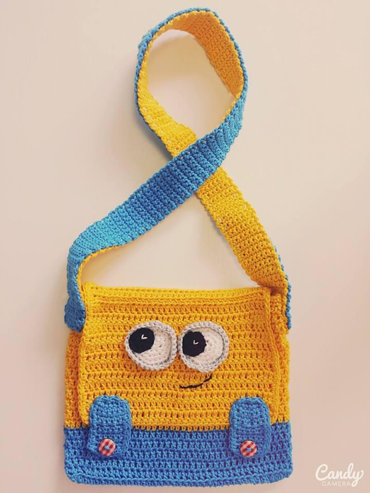 Minion Crochet Bag by Marik0 on DeviantArt
