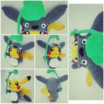 Pikachu Totoro Amigurumi (Pattern + Doll)