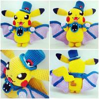 Pikachu Halloween Edition Amigurumi (Pattern+Doll)