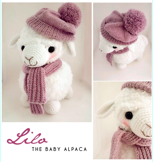 Amiugrumi Alpaca Toy Crochet Free Patterns - Amigurumi Llama | 541x511