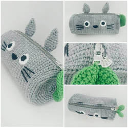 Totoro Crochet Pencil Case -PDF + Finished product