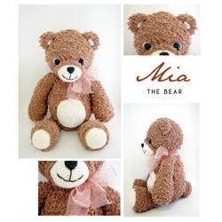 Mia The Bear Amigurumi Pattern + Finished Doll