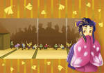 Girl with Lil Samurai's -ori-