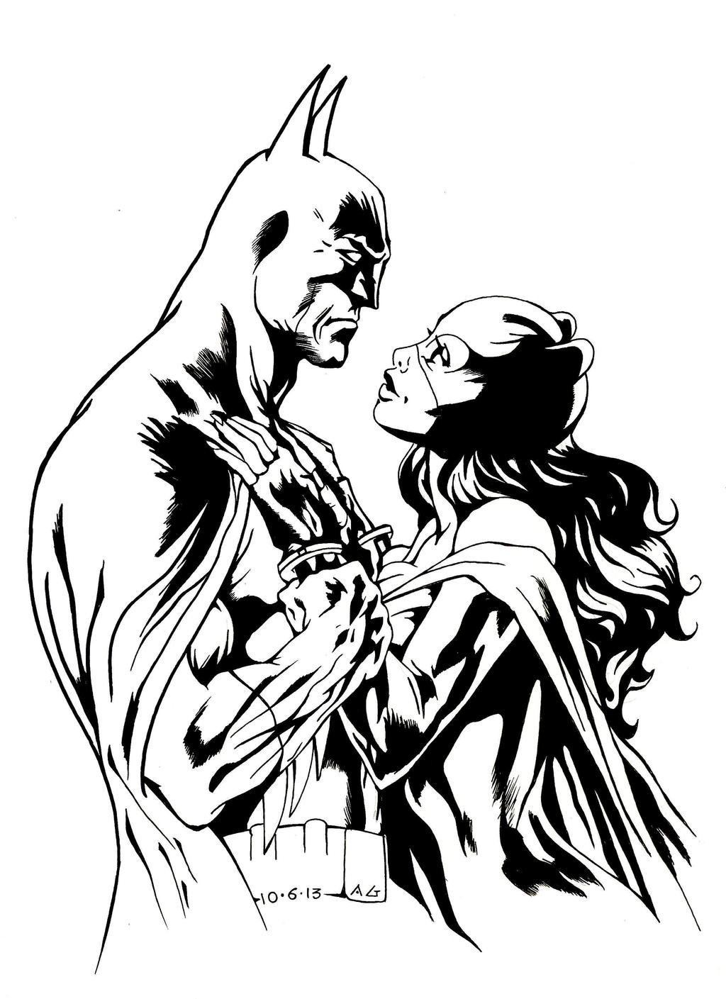 Batman and Selina Kyle by SketchB0000k on DeviantArt