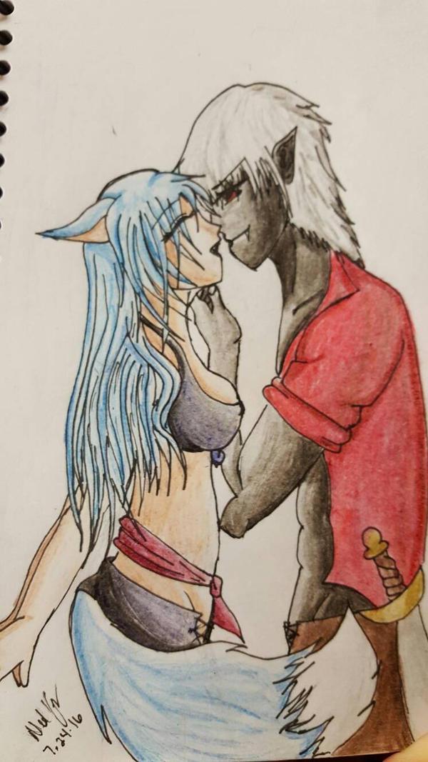Zak and Kitsu by NirinaIllusier