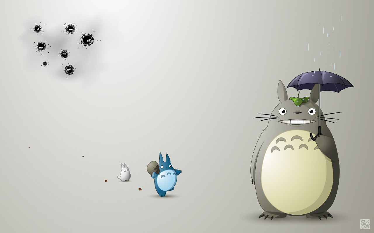 Totoro wallpaper by claudiiie on DeviantArt