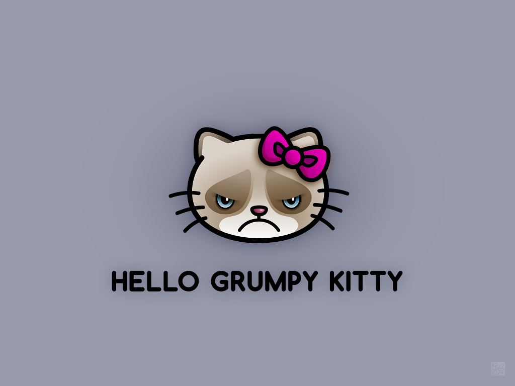 Grumpy Kitty by claudiiie