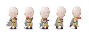 One Punch GIF Steps