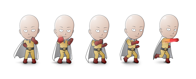 One Punch GIF Steps by claudiiie