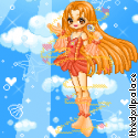 Seira the Orange Mermaid Princess by Mingbatrox108