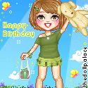 Lorretta the Green Birthday gurl by Mingbatrox108