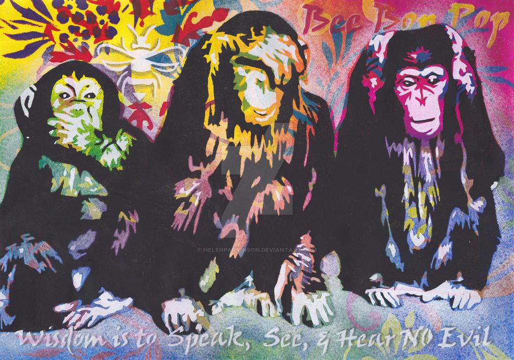 65a904231 3 Wise Monkeys by HelenParkinson on DeviantArt