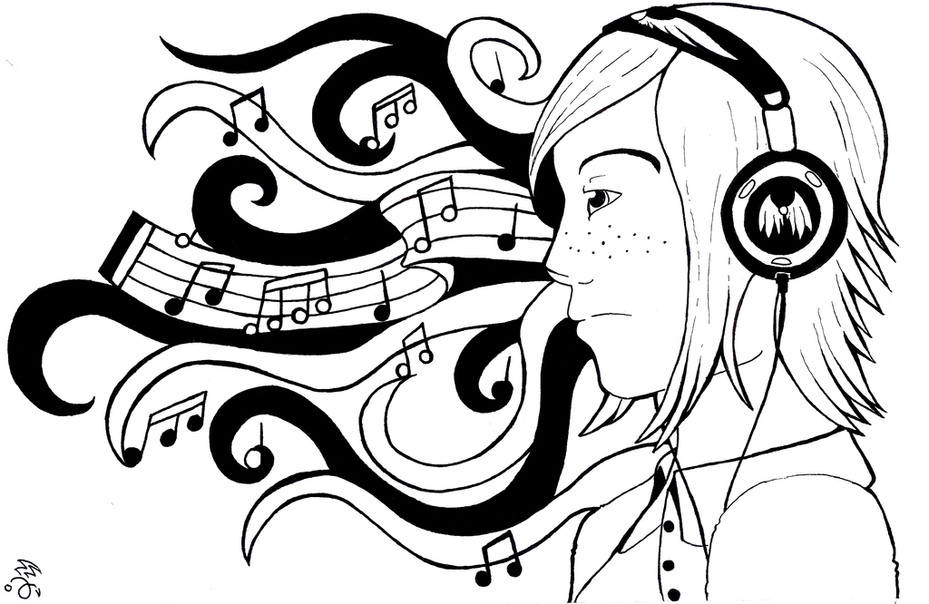 Line Drawing Music : Music and sound lines by eagle elf on deviantart