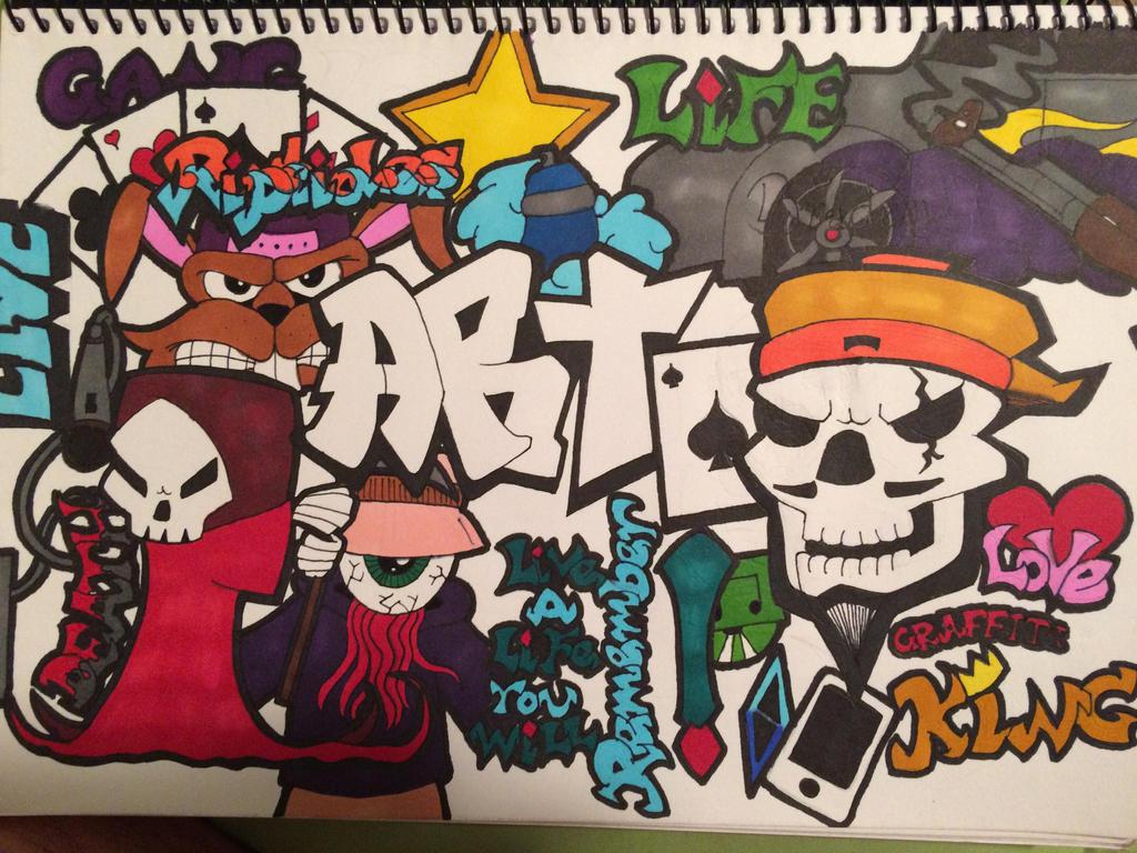 Graffiti Sketch Book Title Page By Senortopdoge On Deviantart