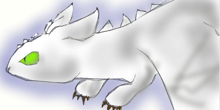 Albino night fury by DragonDodo on deviantART
