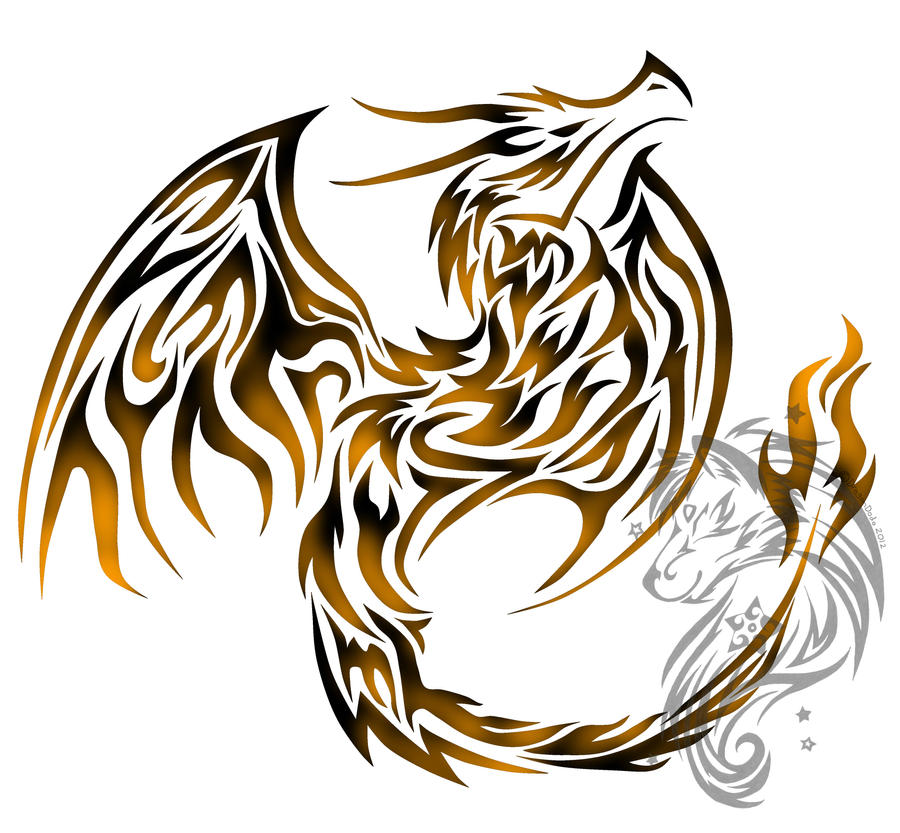 Tribal Flaming Dragon By DragonDodo On DeviantArt