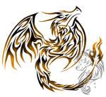 Tribal flaming dragon