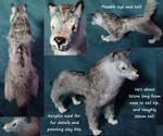 Grey wolf posable art doll by DragonDodo