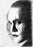 Brandon Lee as Eric Draven by ClaraDarko