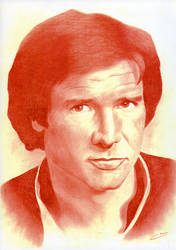 Harrison Ford as Han Solo by ClaraDarko