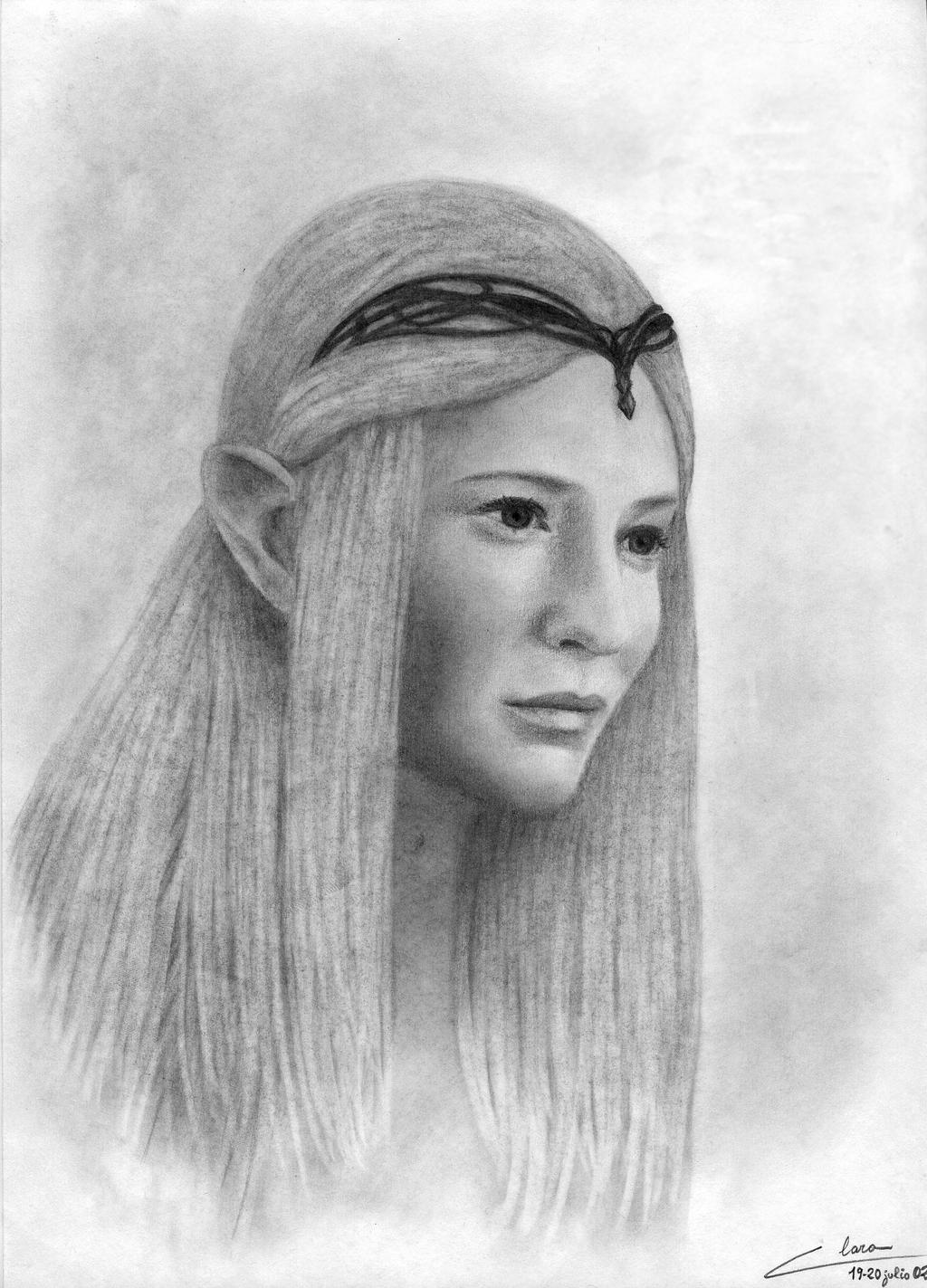 Cate Blanchett as Galadriel by ClaraDarko