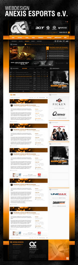 Anexis Esports Webdesign
