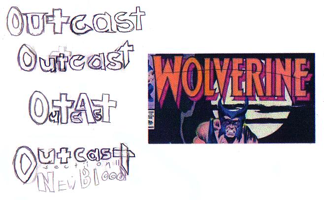 Outcast Logo, Wolverine
