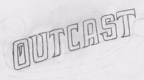 New Outcast Logo Sketch