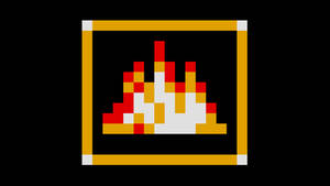 Sonic Item Box Wallpaper, Flame Shield