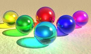 Coloured Spheres of Light redo