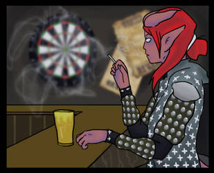 Pathfinder: Lillith at the bar by CrossBreed777