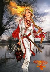 Die Feuerpriesterin by SoeursAryennes