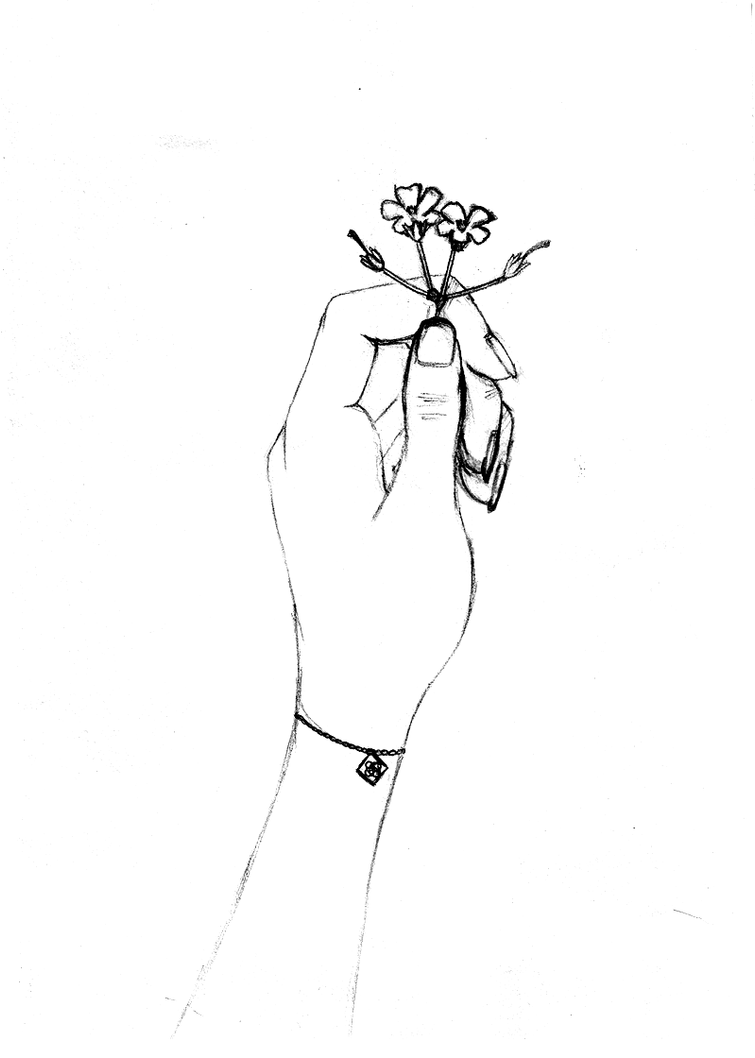 hand holding flowers by chooochoo on deviantart