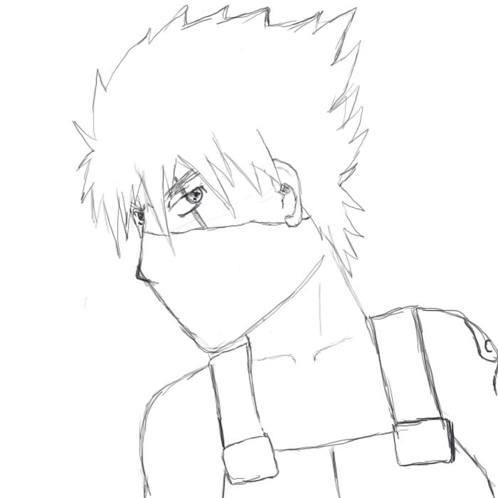 kakashi sketches - 700×700