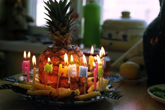 Happy Birthday Pineapple Cake With Name
